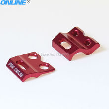 CNC Alloy Brake Hose Line Cable Clamp Holder Fit CRF CR YZF WR Motorcross Dirt Bike Supermoto Enduro Free Shipping