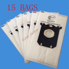 Free shipping 15pcs Vacuum Cleaner Bags Electrolux S-bag for FC8020 FC8130 FC8350 FC8404 HR8300 AEG Tornado Volta standard bag