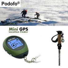 Podofo Mini GPS Tracker Tracking Device Satellites Catch Travel Portable Keychain gps Locator Pathfinding Outdoor Handheld GPS
