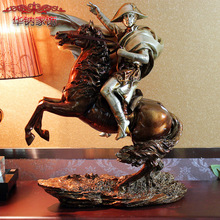 2016 Limited Sale Home Decoration Accessories Style Ornaments Napoleon Equestrian Statue Of Resin Decor Business Hotel Gifts
