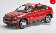 1:32 Scale Alloy Diecast Luxury SUV Car Model For TheBMW X6 Collection Model Pull Back Toys Car With Sound&Light
