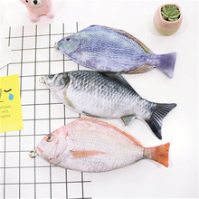 Interesting Unique Funny Simulation Salted Fish Multi Functional Stationery Cosmetic Bags Storage Make Up Organizer Bag for Home