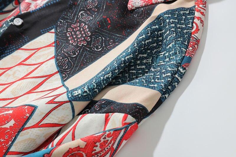 Ukiyo E Geometry Patchwork Shirts 4