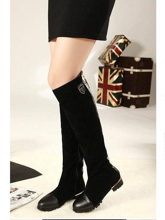 Hot 2017 Autumn Women Boots Sexy Low Heels Women Long Thigh High Boot Knee High Platform Women Shoes<br><br>Aliexpress