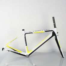 Buy Carbon Road Frame Model:KQ-RB106R 700C Logos Finish fork included factory outlets Yellow + white + carbon fiber Black for $466.88 in AliExpress store