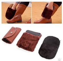 Soft Wool Clean Polishing Shoes Care Buckle Cleaning Gloves Shoe Care Brush Cloth Dedusting Cleaning PU Leather Double Side