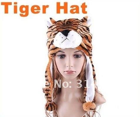 Free Shipping,Cartoon Animal Hat Yellow Tiger Plush Warm Cap,Dropshipping, Retail,WholesaleОдежда и ак�е��уары<br><br><br>Aliexpress