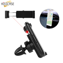 KISSCASE 360 Degree Rotate GPS Navigation Car Holder Size Angle Adjustable Car Air Vent Mount Phone Holder For iPhone 6 7 6S Pl