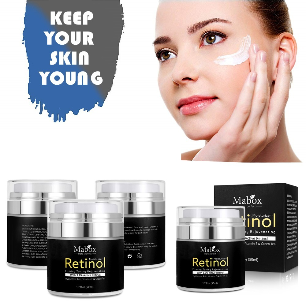 MABOX Retinol 2.5% Moisturizer Face Cream and Eye Hyaluronic Acid Vitamin E Best Night and Day Moisturizing Cream Drop Shipping 7