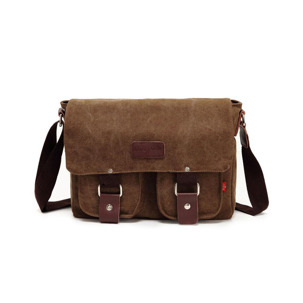 Augur High Quality Fashion Classic Casual  Vintage Messenger Bags Women Canvas Luxury Handbags Bags Designer Travel Bag for Men<br>