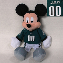 free shipping 40cm Original NFL Mickey Mouse plush soft doll, Philadelphia Eagles Mickey Mouse toys for boy toys
