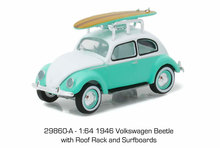 Green Light 1:64 1946 vw Beetle with Roof Rack boutique alloy car toys for children kids toys Model original box(China)