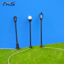 30pcs 3types model lamp, lamppost for train layout HO scale train layout model garden light(China)