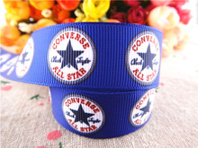 new arrival 7/8'' 22mm 5 yards  printed grosgrain ribbons logo ribbons cloth tape hair accessories  WQ032232