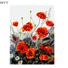 New Diy Painting by Numbers Digital Oil Paint Flowers Canvas Unique Gifts Picture Home Decor Wall Drawings