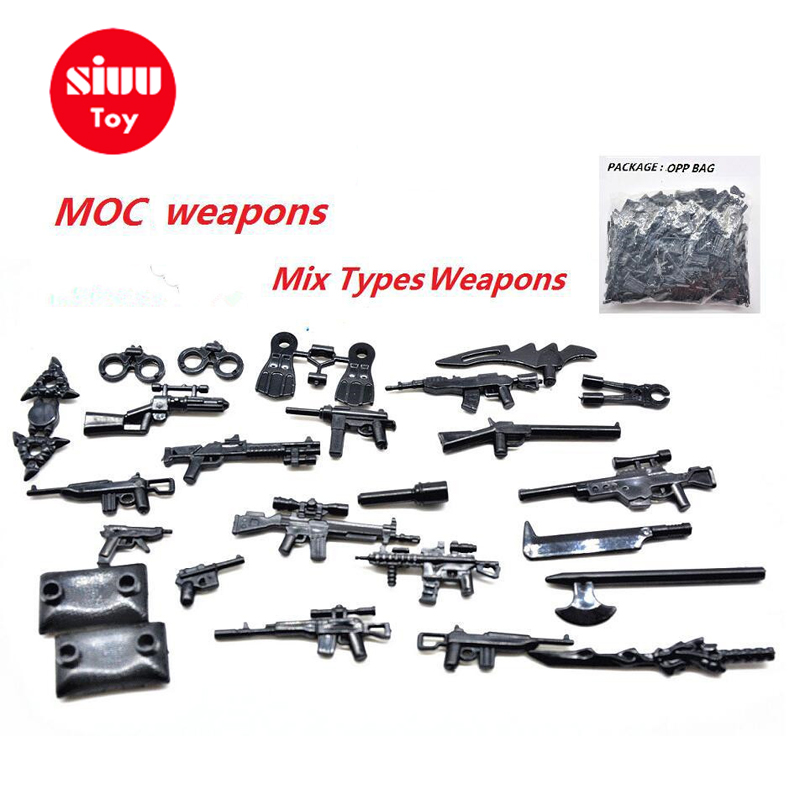 25 100pcs Military Swat Police Gun Weapons Pack Army Soldiers