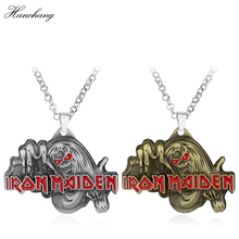 Famous Music Band IRON MAIDEN Killer Necklace Iron Maiden Pendant Necklace Men Jewelry Friendship Accessories Christmas Gift