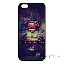 back shell skins cellphone case cover for iphone 4 4s 5 5s 5c SE 6 6s 7 plus ipod touch 4/5/6 Man Of Steel Super Heroes(China)