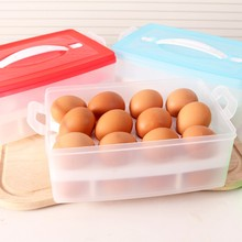 Kitchen Egg Storage Box Organizer Refrigerator Egg Storing 24 Slots Organizer Outdoor Portable Container  -15