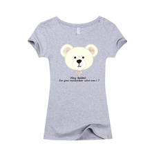 2017 Summer Fashion kawaii Women Slim T shirt Casual T-shirt  I love cute Bear / Rabbit / cartoon image Cartoon 3D Print