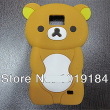 Clearance!! For Samsung Galaxy S2 I9100 Plus I9105 3D Cute Cartoon Rilakkuma Bear Silicone Cover Lovely Phone Case
