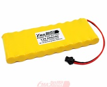 Ni-Cd Nickel Cadmium Rechargeable Battery AA 12V 600mAh for Model toys Emergency Exit Light Backup Power 10SB(China)