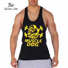Seven Joe.Men's Tank Tops Muscle Stringer New Muscle Dog Cotton Body Building and Fitness Pro Combat Vests Clothing(China)