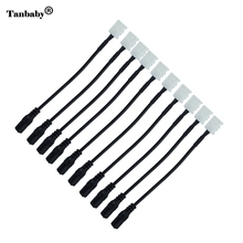 Tanbaby 10pcs/lot 8mm 2pin Female DC Adapter LED Strip Connector Cable For SMD 3528 3014 2835 Single Color led Strip(China)