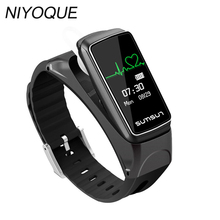 NIYOQUE Bluetooth Smart Band Talkband B7 Pedometer Smart Bracelet Sport Health Wristband with Music Player Answer Call