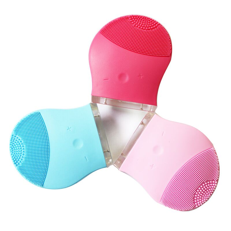 Silicon Facial Cleansing mini Brush Best Face Cleaning Massager Brush Electric Facial Cleansing Brush(China (Mainland))