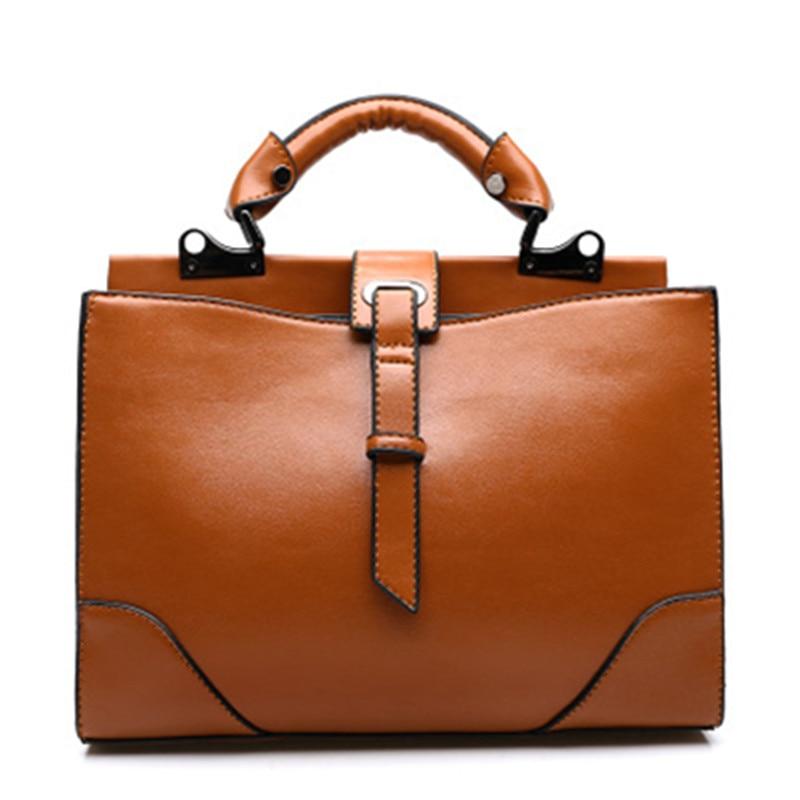 Hot Sale 2015 New Women Handbag Top PU Leather Bag Solid Shoulder Bag Fashion Women Leather Handbag Casual Tote Luxury Bolsas<br>