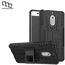 Hybrid Back Mix Color TPU+PC Plastic Dual Armor Stand For Nokia 6 Cover Phone Case Stand Belt Clip Rugged Full Body Shockproof