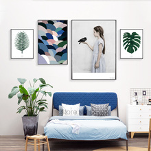 Natural Life Turtle Leaf Girl Bird Posters And Prints Wall Art Canvas Painting Art Print Nordic Poster Cuadros Posters Unframed(China)