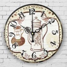 kitchen wall clock vintage home decor large silent wall clock quartz watch wall living room decoration watches horloge murale(China)