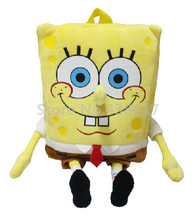 3D Cartoon SpongeBob Backpack Plush Bags Kawaii Cute For Baby Boys Girls Kindergarten Preschool Backpacks School Bag Kids School