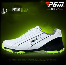 The new PGM head layer cowhide Golf shoes skid men sports shoes patent Lightweight Waterproof freeshipping(China)