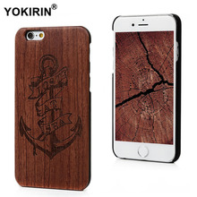 YOKIRIN Wood Case for iPhone 6 6S Plus Wooden Cover Natural Bamboo Carving Wood + Plastic Edges Back Cover For iPhone 6s Plus(China)