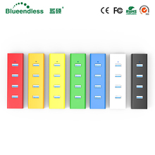 Blueendless Free Shipping Super Light USB 2.0 HUB Computer Accessaries with 4 USB Port ON/OFF Switch H405U2 many colors(China)