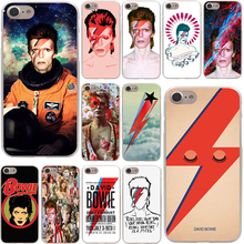 David Bowie Hard Phone Cover Case Transparent for Apple iPhone 7 7 Plus 6 6s Plus 5 5S SE 5C 4 4S Coque Shell