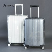 Osmond Luggage Protector Cover Travel Suitcase Dust Cover Transparent Clear PVC Protective Cover for 20-28 inch Suitcase Trolley(China)