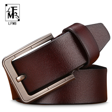 Buy LFMBmale genuine leather strap leather belt men designer belts men high genuine leather belt men cinto masculino for $10.26 in AliExpress store