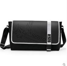 Top Sword Art Online Anime Cartoo printing Japanese Kirigaya Kazu Handbags PU and canvas College schoolbags Couple Lovers bags