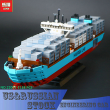 Lepin 22002 Technic Series The Maersk Cargo Container Ship Set Educational Building Blocks Bricks 1518Pcs Model Toys Gift(China)