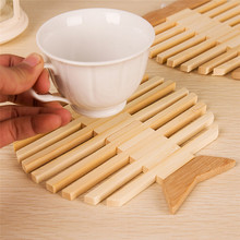 Happy Sale  1Pc Wooden Quick-drying Placemat Insulation Mats Coasters Kitchen Dining Table  jan13