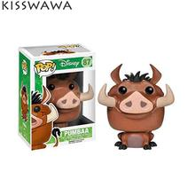 KISSWAWA 8.5cm Funko Pop Come Pumbaa Cute Pig Vinyl Figure Cartoon Mini Decorative Collection Model Toy Gift For Kids