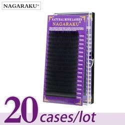 Nagaraku 20 лотков/лот ресницы натуральные Индивидуальные ресницы для наращивания инструменты для макияжа искусственные Премиум норковые ресн...