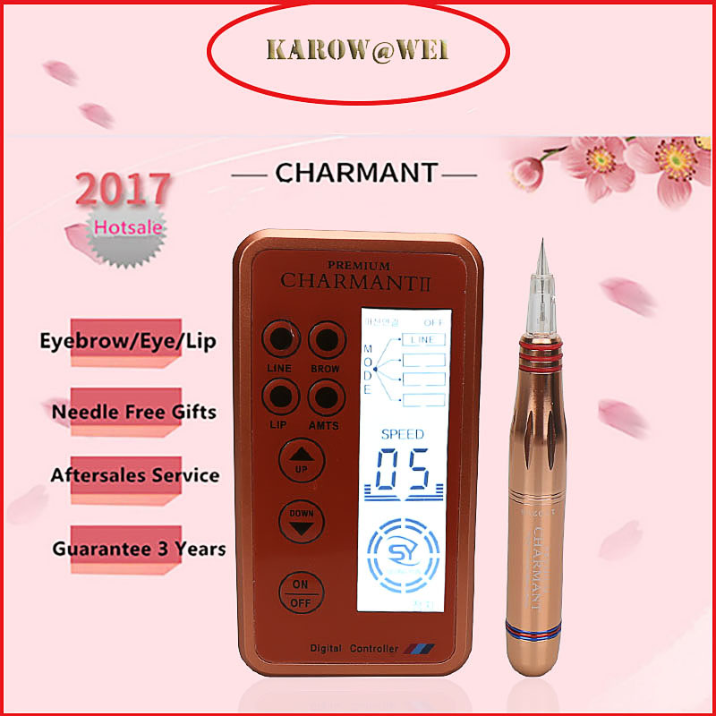 New Version Charmant Permanent Makeup Machine For Eyebrow Tattoo Lip Eyeliner Microblading MTS Pen Set Eye Makeup<br>