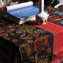 Print egypt upholstery decor tissu sofa table cloth vintage cotton linen ethnic fabric tecido 100*145cm(China)