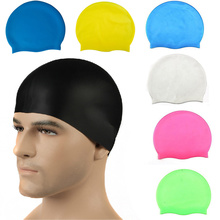 Unisex Adults Multicolor Free Size Ear swimming cap Sports Waterproof Swimming Hat Caps Siwm Pool accessories