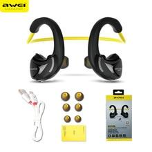 Sport earphones Awei A880BL Wireless Sports Earphones font b headphone b font Bluetooth V4 0 Earhook
